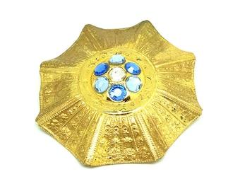Vintage 1950s Brooch | Vintage Brooch | Brooch Pin | Miriam Haskell Brooch | Gold Brooch | Statement Brooch Pin | Vintage Brooch