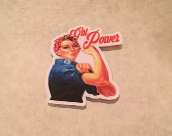 Girl Power Rosie the Riveter Sticker