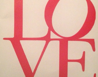 LOVE glass/mug decal vinyl