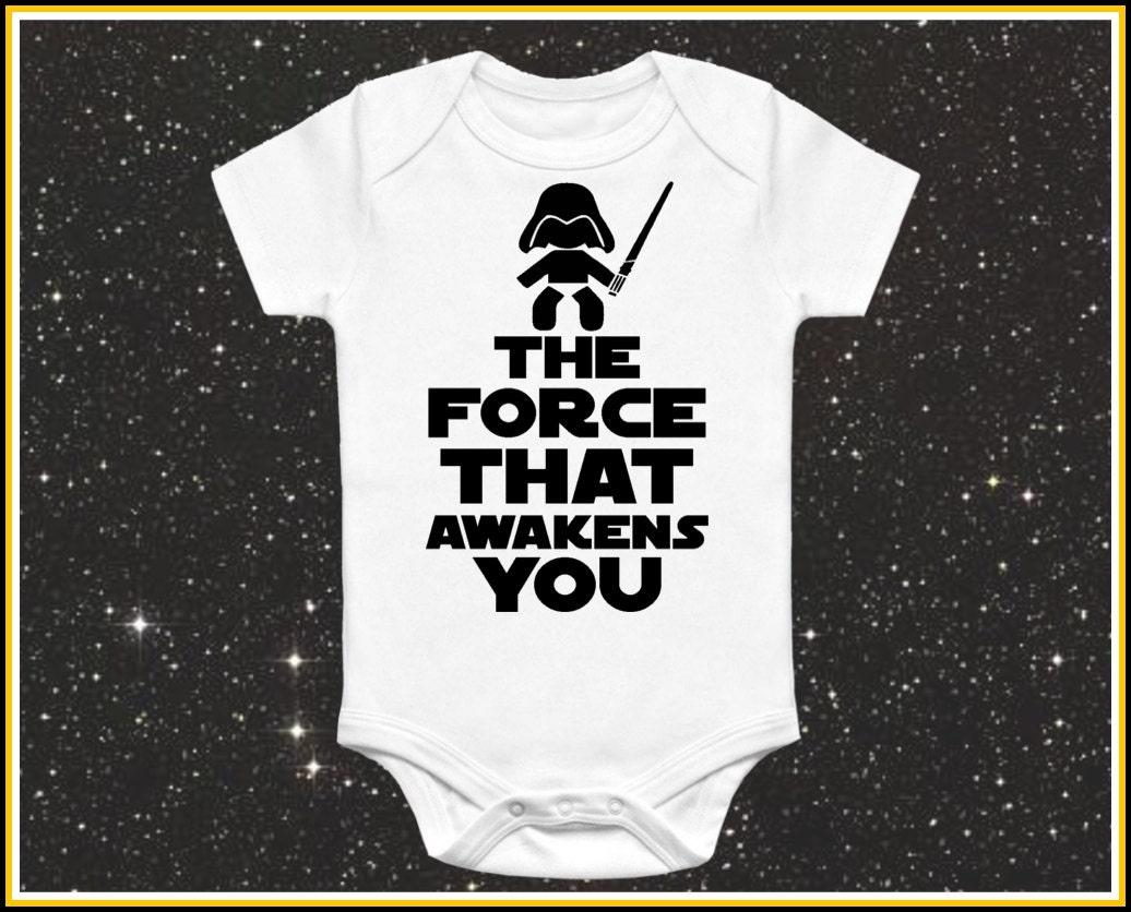 Force Awakens Baby Onesie Cute Funny Star