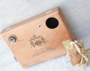 Unique Hand Drum, Cigar Box Instrument, Handmade Cajon Cigar Box Drum Kit. Like Cigar Box Guitars for Drummers. Hand built by Rozegrave. Art
