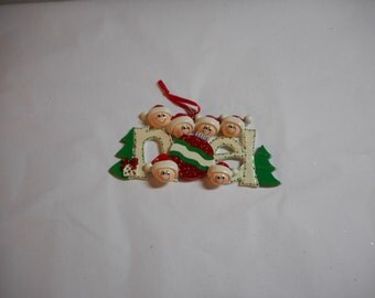 Noel family of 6 Personalized Ornament