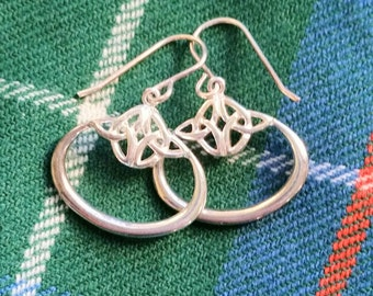 Celtic Knot Sterling Silver Earrings