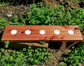 Rustic candle tray, Cedar candle tray, Cedar candle holder, Rustic tealight candle holder, Cedar tealight candle holder