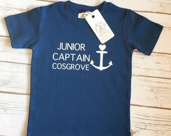Nautical, Nautical Kids Shirt, Kids Shirt, Custom Kids Shirt, Personalized Shirt, Anchor Shirt, Kids Summer Clothes, Nautical Birthday