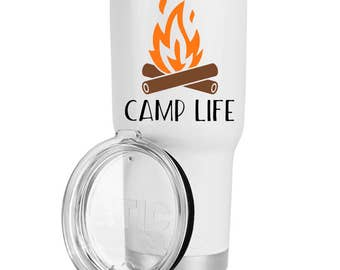 Camping Decal - Outdoor Decal - Camp Life - Car Decal - Decal for Yeti Cup - Rtic Cup Decal - Camping Family - Ozark Decal - Happy Camper