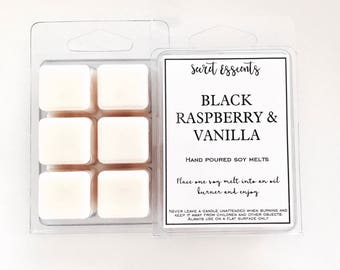 Black Raspberry & Vanilla Natural Soy Wax Candle Melts.Favors, thank you's, weddings, bridal party, baby shower