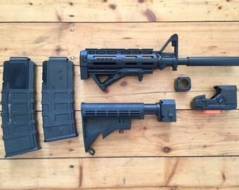 Custom M4 Carbine Styling Kit for Nerf Retaliator & Recon // Mod // Paint Job