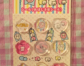 San-X Nyan Nyanko stickers Cotton Candy
