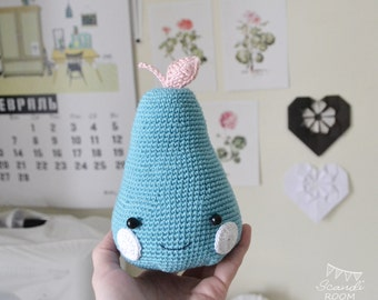 Crochet Amigurumi Happy Pears. Stuffed Toy. Gift Children Pear Toy. Knit Toy