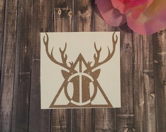 Deathly Hallows Decal | Patronus Decal | Harry Potter Decal | Expecto Patronum Decal