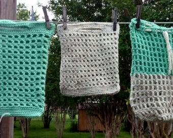 Farmers Market Tote Set, Market Bag, Reusable Bag, Grocery Bag, Produce Bag, Produce Tote, Nesting Bags