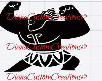 Maui SVG png jpg dxf eps cricut and silhouette