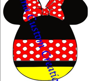 Easter Egg Minnie SVG Cricut Silhouette