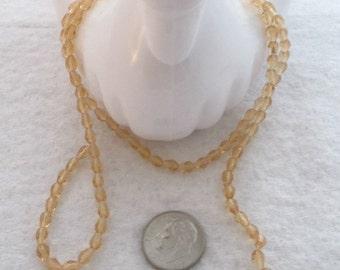 M* Strand of Glass Teardrop Beads. 6mm x 4mm (1798)