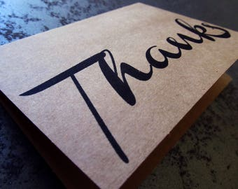 Thank You Card (Single or Set of 5, 10, 20)