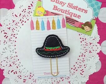 Planner clip - sombrero