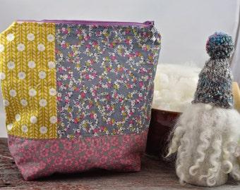 Vintage Flowers Project Bag