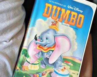 Dumbo movie FRENCH VHS, Black Diamond Dumbo, Black Diamond VHS, Disney movie, 80s movie, kids gift, Kids movie, Disney collector