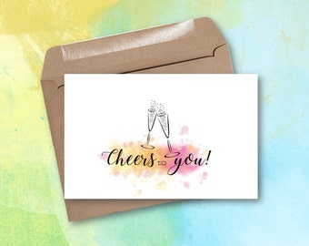 Greeting Card - Cheers to You!