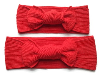 Hair bows Christmas bows gifts for new mommy and me mother daughter matching christmas hair bows christmas headbands red bow knot baby bows