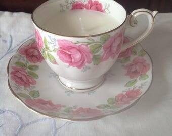 Candle teacup Lady Alexander Rose