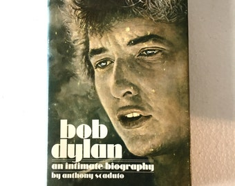 1971 BOB DYLAN an Intimate Biography Rock Memorabilia Hardback Book