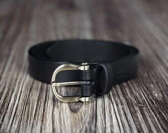 Women's belt - 2,5cm width - leather belt - Black Belt -Brown Belt - vegetable tanned leather
