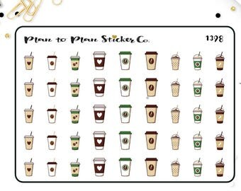 1398~~Coffee Cappuccino Latte Planner Stickers.