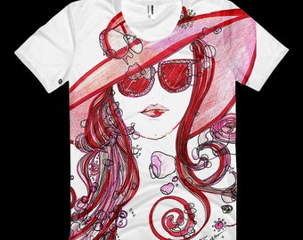 Crazy Art with Traci  Lady in Red