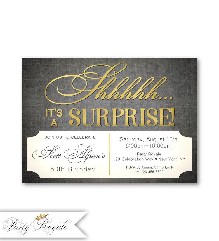 Amazing 50th Birthday Surprise Invitations Photos - Invitation Card ...