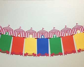 First Birthday Circus Themed Picture Banner