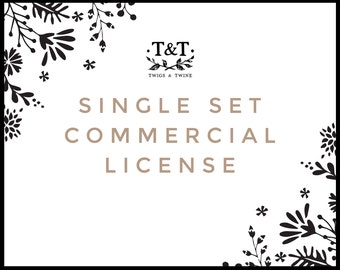 Commercial License - For One Clip Art Set
