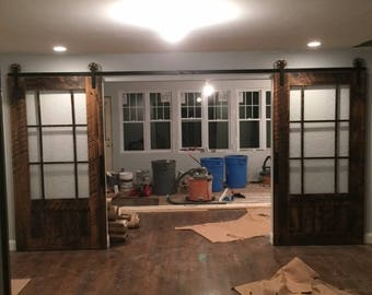 Glass Sliding Barn Door