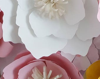 Paper Flower Template in PDF digital file #24