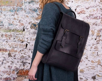 Handmade Leather backpack, laptop backpack,  leather backpack women, leather rucksack, school backpack, mens backpack