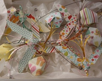 """Mobile origami - birds in paper """"Summer time"""""""
