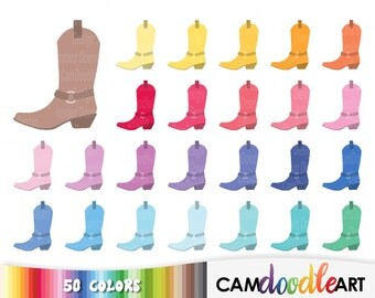 50 Cowboy Boots Clipart,Cowboy Clipart,Cowgirl Clipart,Western Clipart,Scrapbooking,Birthday Clipart,Invitation,Sticker Clipart,png file