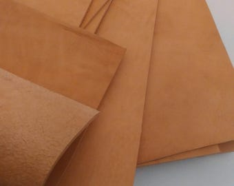 6 1/2 oz. 2,5mm Italian Leather Vegetable Tanned Leather Hide Bovine Cow Leather Hide Veg Tan High Quality-Leather-Off Cut