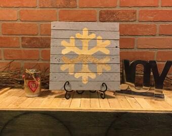 Rustic Snowflake, Christmas decor