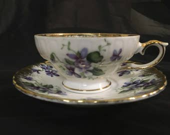 1950's Royal Sealy cup and saucer violets