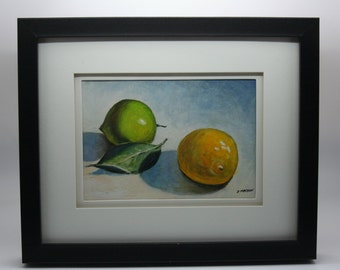 Original Oil Painting by G. Machon - Lemon and Lime