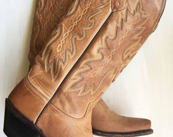 Old West Boots// Leather Boots// Women's Boots// Size 6.5