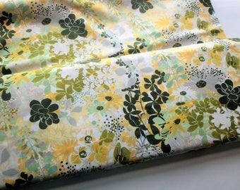 Yardage of Moda's Renew Lemon Grass from the Origins Line by Basic Grey