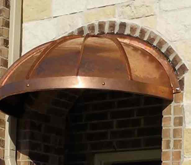 Drop Face Arch Copper Awning by ClassicCopper.com