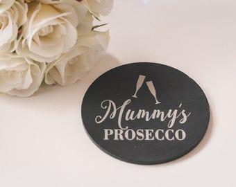 Personalised Slate Mummy Coaster, Mummy Gift, Prosecco Gift, Prosecco Lover, Gin Lover Gift, Funny Coaster, Coasters, Mother's Day Gift