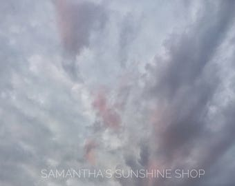 Original Fine Art Photography Clouds Photo Nature Photo Sky Photo Wall Decor Pink Purple Gray Clouds Photo Landscape Photo Housewarming Gift