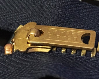 "Vintage jeans zipper[GRIPPER ZIPPER] Pin-lock 7"""