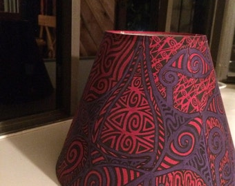 HandPainted Lamp Shades| Funky Home Decor| Psychedelic|TheSKwurilNest