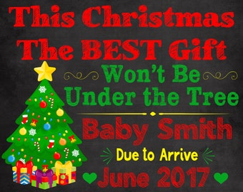 5ed08a3af06ce Christmas Pregnancy Announcement, Christmas Baby, announcement, maternity,  gift, Pregnancy reveal christmas